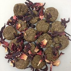 Cookies with dried flowers or herbs